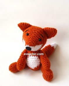 Red Fox-Crochet Amigurumi Pattern--Free Tutorial