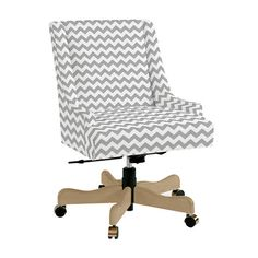 I like this chevron desk chair