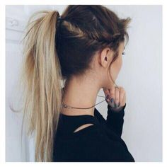 Plaited hair into a ponytail: