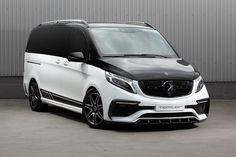 TopCar's Inferno Body Kit Makes Mercedes V-Class Look Hotter Mercedes Benz Vans, Mercedes Van, Mercedes W124, Mercedes Sprinter, Sprinter Van, Hummer Truck, Van Wrap, Cool Vans, Classic Mercedes
