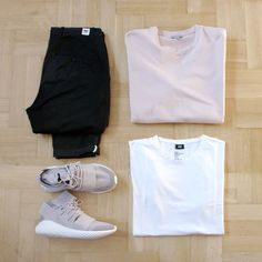 Outfitgrid - Wood Wood pants / COS crewneck / H&M tee / adidas Tubular Doom shoes