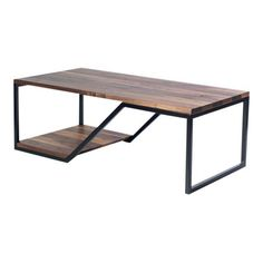 Doppio, Modern Walnut and Steel Coffee Table Iron Furniture, Steel Furniture, Bespoke Furniture, Table Furniture, Industrial Design Furniture, Furniture Design, Wood And Metal Desk, Small House Interior Design, Steel Coffee Table