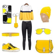 """""""Untitled #67"""" by omaimamassher on Polyvore featuring Golden Goose, Marc Jacobs, Roberto Cavalli, Casetify, Fendi and Neff"""