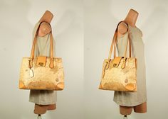 Alviero Martini repro Maps Tote by Ambercityvintage on Etsy, $65.00