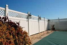 Superior Plastic Products-Photo Gallery of our Vinyl Fence, Porch & Deck Railing Installations Vinyl Privacy Fence, Privacy Fences, Vinyl Railing, Deck Railings, Tongue And Groove Panelling, Outdoor Spaces, Outdoor Decor, Decks And Porches, Yard Landscaping