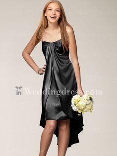 Satin Bridesmaid Gown_Black