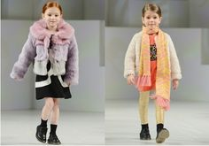winter fashion fur coat for girls