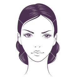 Face girl vector image on VectorStock Makeup Face Charts, Face Makeup, Face Stencils, Realistic Cartoons, Face Illustration, Sketch Painting, Makeup Dupes, Fashion Face, Art Plastique