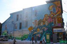 Street Art in Cabbagetown, Toronto Downtown Toronto, 19th Century, Facade, The Neighbourhood, Brick, Street Art, Real Estate, Explore, History