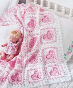 The Big Book of Baby Afghans crochet baby hearts afghan pattern Crochet Heart Blanket, Baby Afghan Crochet, Manta Crochet, Crochet Bebe, Crochet Granny, Crochet Bedspread, Crochet Blankets, Free Crochet, Afghan Crochet Patterns