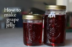 Home Made Grape Jelly...I've made this before.  Its pretty good. I think I'm gonna make it again.