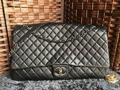 77dd2650800b Chanel Classic Flap Bag XXL Large Metallic Calfksin A91169  Whatsapp +8615817091613 for more pics