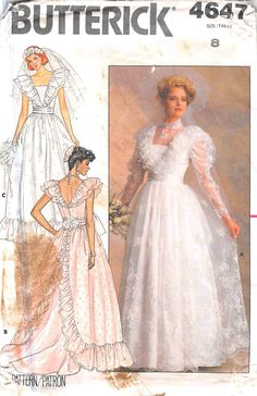 BUTTERICK 4647 - FROM 1987 - UNCUT - MISSES DRESS
