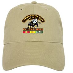 Navy Seabee Tan Military Insignia Hat via Military Insignia Clothing and Products. Click on the image to see more!
