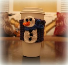 Snowman Cup Cozy by KatiesLittleMonkeys on Etsy