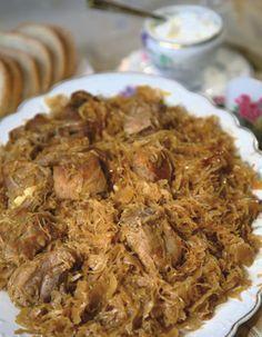 Toroskáposzta Hungarian Cuisine, Hungarian Recipes, Roasted Pork Tenderloins, Romanian Food, Cooking Recipes, Healthy Recipes, Street Food, Main Dishes, Food Porn