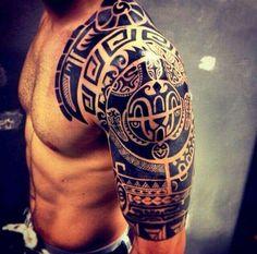 Unglaubliche Polynesische Tattoo-Designs  MAORI BEDEUTUNGEN: http://amzn.to/1JxTLXT MAORI VOL.1: http://amzn.to/1EzWph0  . — met Danny Aguil... Meer weergeven