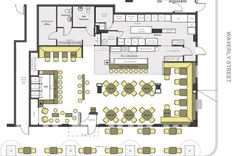 Restaurant and Bar Floor Plan