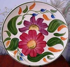 Vintage Wade 1960's Hand Painted Retro Floral Plates
