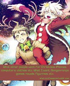 File:Dangan Ronpa Christmas Promo.jpg | danganronpa | Pinterest ...