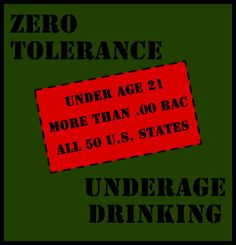 Teens that drink still report drinking to excess, binge drinking and drinking and driving. While Zero Tolerance laws have helped to lower the rate of drinking and driving across the country, more efforts need to be made to eliminate the possibility of underage drinking and driving.