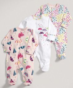 Girls Essentials Three Pack of Umbrella All in Ones - Baby Girl Essentials - Mamas & Papas Baby Girl Fashion, Toddler Fashion, Kids Fashion, Cute Baby Girl, Baby Love, Cute Babies, Baby Outfits Newborn, Baby Girl Newborn, Baby Girl Essentials