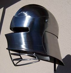 Combat Ready Reprod. German Sallet with visor  f/ West Coast Armoury