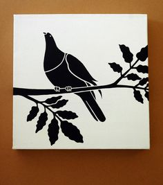 Kereru (New Zealand Pigeon) In A Puriri Tree. $40.00, via Etsy.