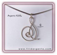 """Pendente Iniziale """"S"""" 1 in Argento 925‰ Wire / Pendant Initial """"S"""" 1 925 ‰ Silver Wire"""
