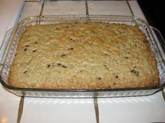 George Family Breakfast Bars from Food.com: add raisins instead of chocolate chips
