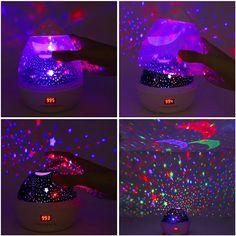 Kids Star Projector Lamp Sky LED Night Rotating Lights Sensory Baby Space Room