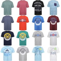New Summer Wear 100% Cotton Big Boys Men's Crew Neck T Shirts Front Printed Tops #Lyallpur #TShirts