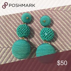 Kenneth Jay Lane Turquoise Earrings Never worn, beautiful style, looks similar to Les Bon Bons! Purchased from the Outnet! Kenneth Jay Lane Jewelry Earrings