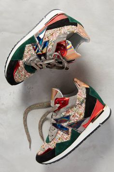 Walk softly and let your style do the talking: Rio Sneakers by Elena Iachi #anthrofave #anthropologie