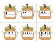FREEBIE - pumpkin-themed ten frame cards!