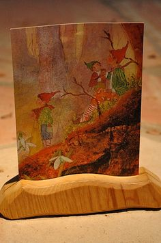 seasons round autumn 09 :: postcard and holder by waldorf mama, via Flickr