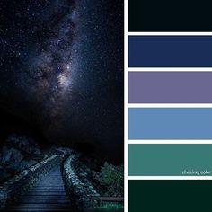Color palette for Waylin Paint Color Schemes, Colour Pallette, Color Azul, Color Combos, Galaxy Colors, Color Harmony, Interior Paint Colors, Design Seeds, Color Swatches