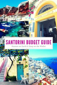 Santorini is romantic, beautiful and quite frankly heaven on Earth. It is also considered by many as an expensive destination, which isn't the case. Santorini can be done fabulously and affordably with some research and planning. This guide explains how to get around the island, stay, eat and activities that are both wonderful and easy on the wallet! #Greece #Santorini #Budget