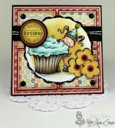 Kraftin' Kimmie Stamps Birthday Lulu Card My Favorite Things Die #KraftinKimmie #MyFavoriteThings #Copic #Crafts www.CardsByBecky.blogspot.com