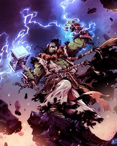 World of Warcraft - Thrall Fan Art Created by Nicola Saviori http://www.helpmedias.com/wow.php
