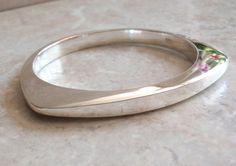 Sterling Triangle Bracelet Bangle Trillion Vintage by cutterstone
