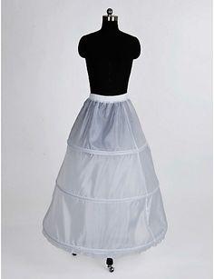 nylon a-line fullständig klänning 1 Tier golv längd slip stil   bröllop  underkjolar 2015 1ac30c4d4cf4a