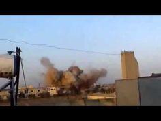 Сирия Новости Сегодня!  Авиаудар по укрытию террористов ИГИЛ в городе Да...