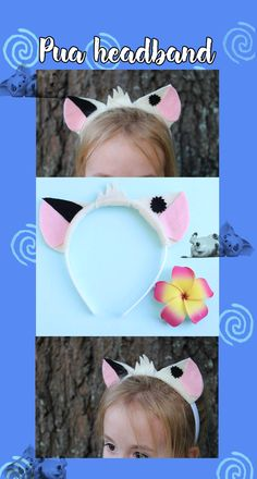 Adorable Pua headband! Perfect for Moana themed birthday parties or Halloween costumes! @DashingAndDainty on Etsy.