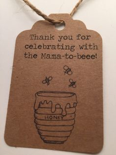 Gift/Favor tags perfect for gender neutral shower or honey/bee themed