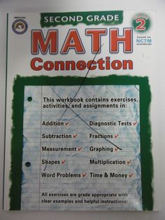 119851ee188 Math Connection Grade 2 by Rainbow Bridge Publishing Staff based on NCTM  Stndrds  WorkbookStudyGuide Elementary