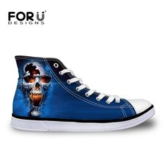 We love it and we know you also love it as well FORUDESIGNS Blue 3D Skull Men Basic Canvas Shoes Summer Breath Mens Casual Flats Male Shoes Zapatos Hombre High Top Man Shoes just only $26.79 with free shipping worldwide  #menshoes Plese click on picture to see our special price for you