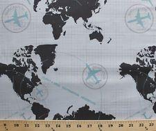 Vilber fun world map ocean atlas designer multipurpose fabric 175 vilber fun world map ocean atlas designer multipurpose fabric 175 yards 54w yards ocean and designers gumiabroncs Gallery