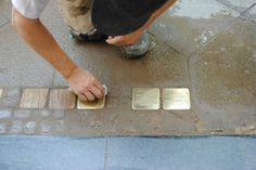 Cleaning the Stolpersteine
