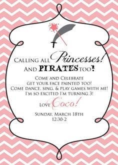 One Fabulous Mom: Princess and Pirate Party!